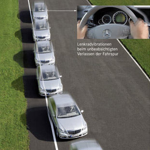 Asistent electronic pentru pastrarea benzii