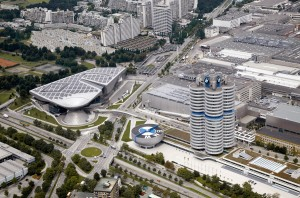 BMW Welt, BMW Plant Munich and Corporate Headquarters - Aerial view (03/2011)