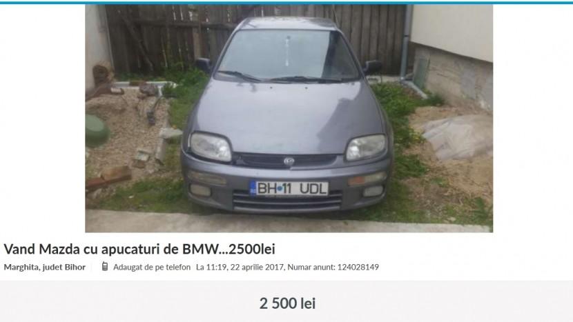 Anunțuri Mazda cu apucaturi de BMW