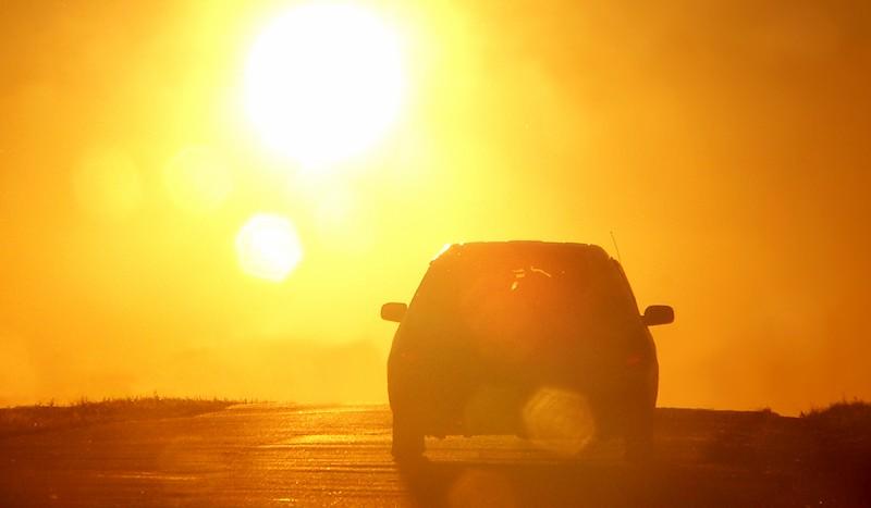 car-in-sunset