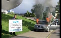 Distrugător de profesie – Și-a dat foc la BMW în fața uzinei din Munchen