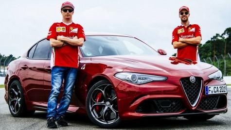 Emoțiile câștigă – Sebastian Vettel și Kimi Raikkonen au dus-o pe Giulia pe circuit