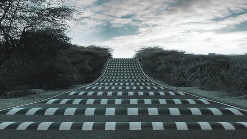 În Londra, iluziile optice țin locul limitatoarelor clasice de viteză