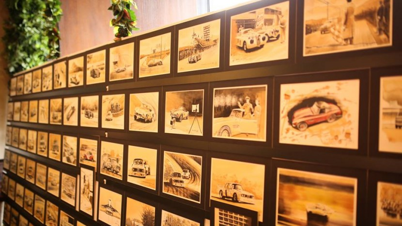 BMW picturi in cafea