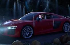 Audi schimbă povestea de Crăciun. R8 cu mulți cai putere în loc de caleașca trasă de cai