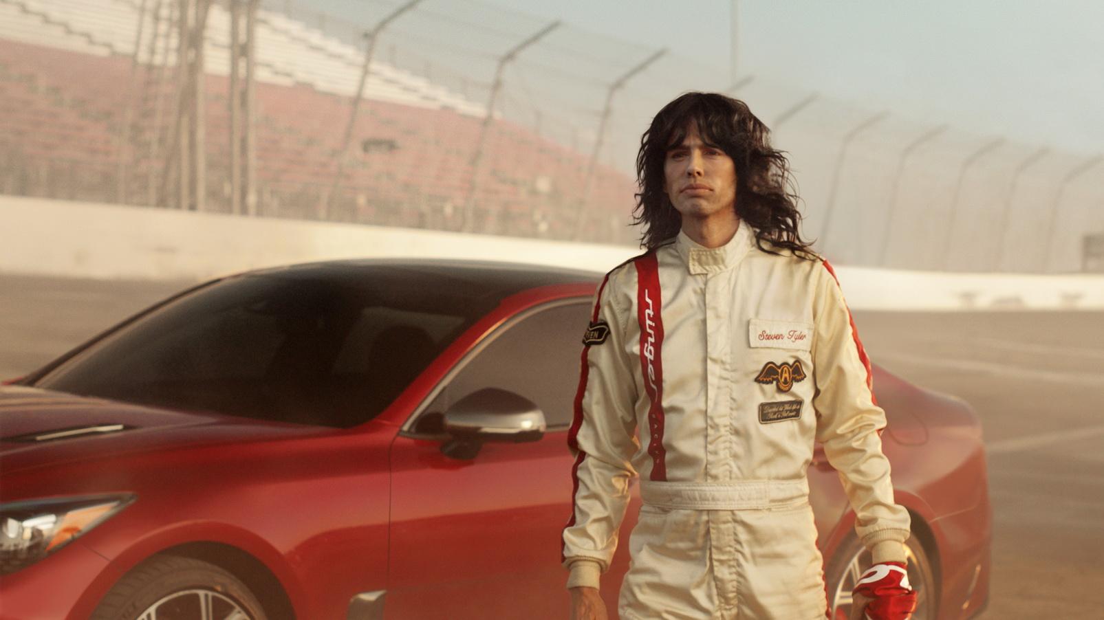 Kia Super Bowl Aerosmith Steven Tyler Emerson Fittipaldi (2)