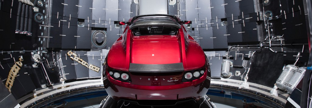 Elon Musk Tesla Roadster SpaceX