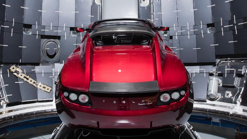 Elon Musk Tesla Roadster SpaceX