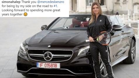 Simona Halep a primit o decapotabilă de 80.000 de euro