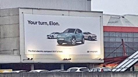 Hyundai îl provoacă pe Elon Musk cu reclama la Kona Electric