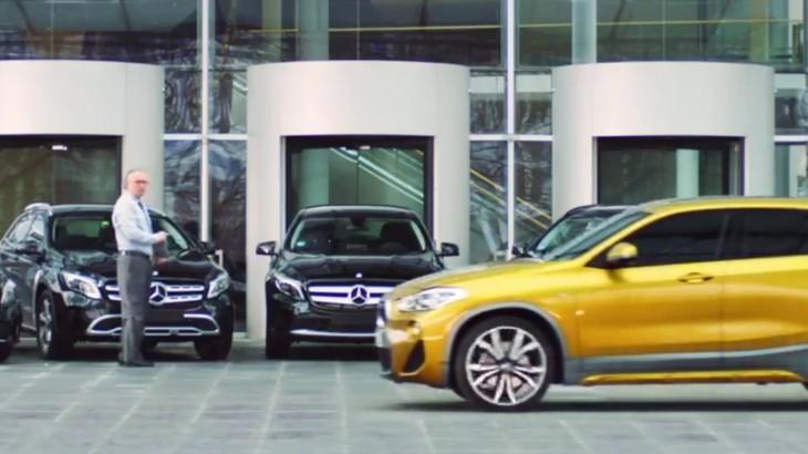 Atac la Mercedes – BMW X2 apare într-o nouă reclamă