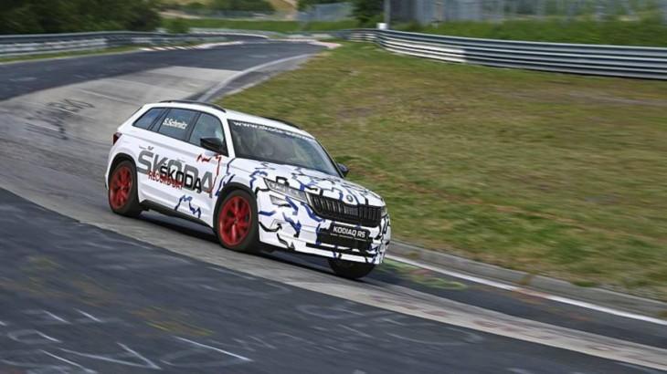 Skoda Kodiaq RS este cel mai rapid SUV cu 7 locuri. Pe Nurburgring, condus de o femeie