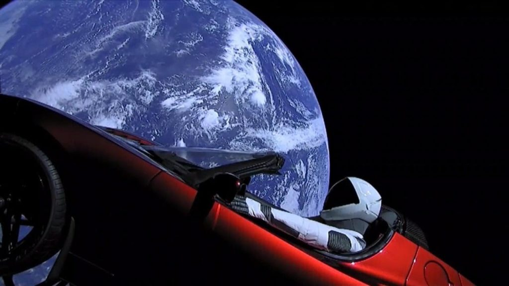 Spaceman Tesla Roadster Elon Musk