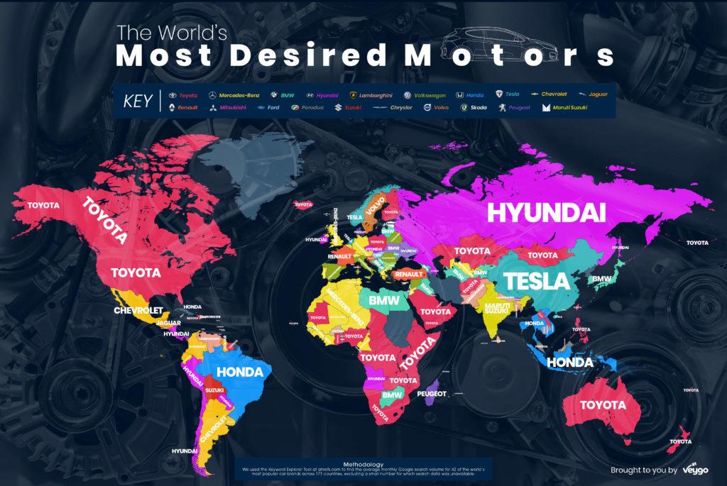 Top 3 cele mai căutate mașini pe Google