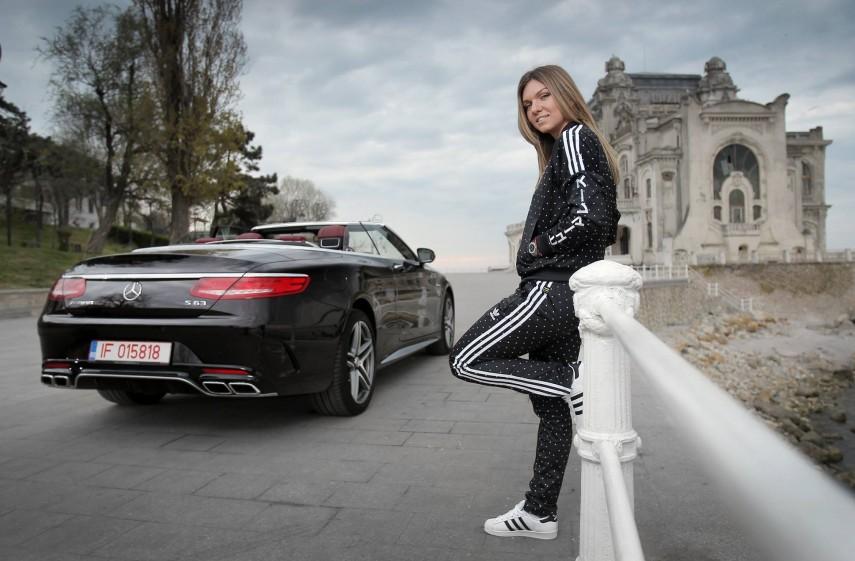 Simona Halep Mercedes S 63 Cabrio 2