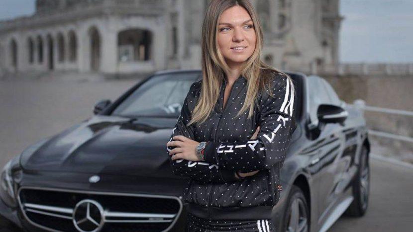Simona Halep Mercedes S 63 Cabrio