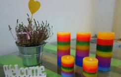 Un strop de culoare și o mare de parfum într-o lumânare
