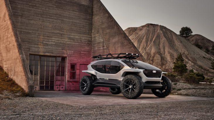 LIVE Frankfurt 2019 – Conceptul Audi AI:TRAIL quattro are drone în loc de faruri